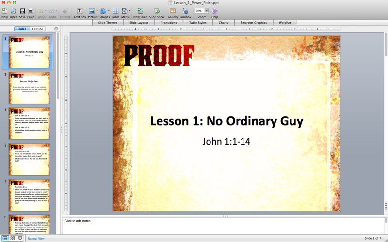 Proof: A 6-lesson Study On The Book Of John
